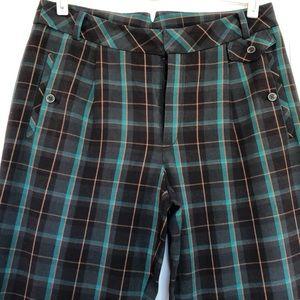 Cartonnier cropped plaid trousers 💙🖤💚💛